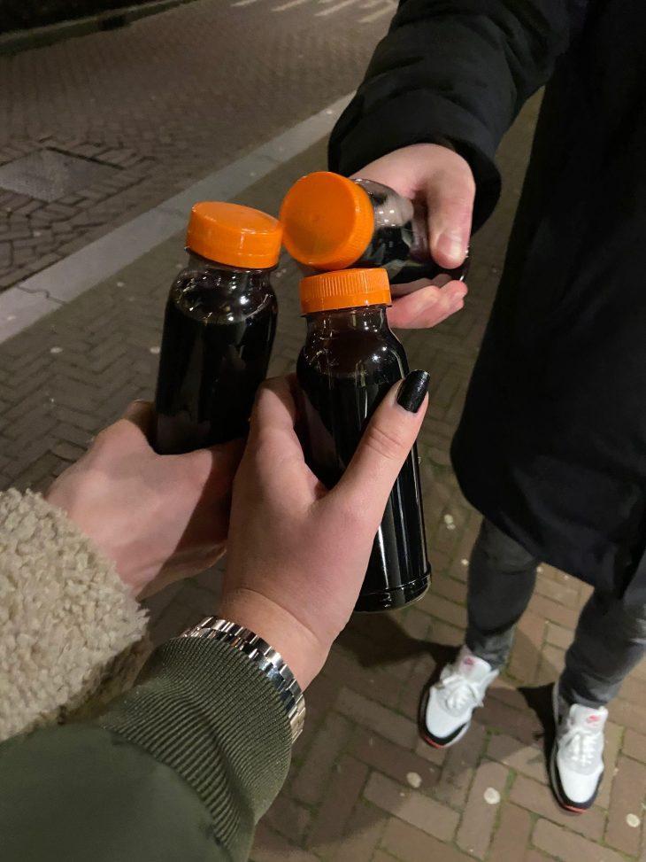 Stiekem Gluhwein drinken in Amsterdam