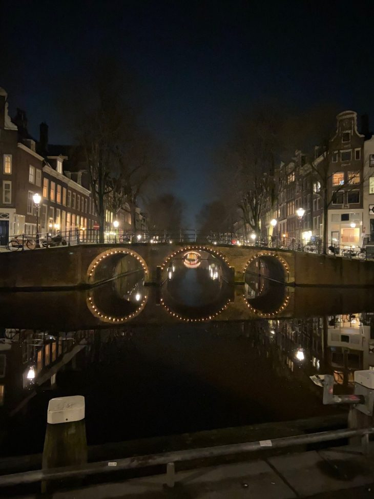 Kerstlampjes in Amsterdam
