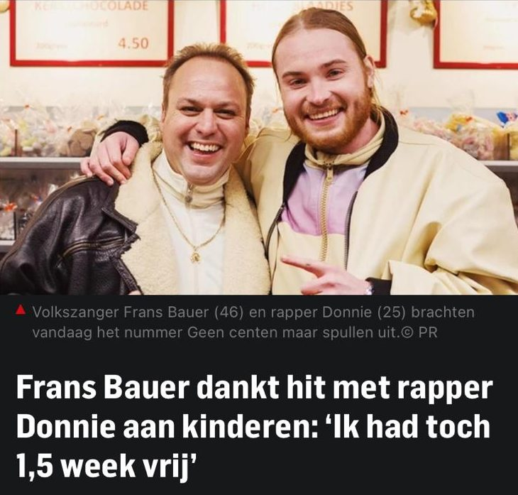 Frans Bauer en Donnie Geen Centen Maar Spullen